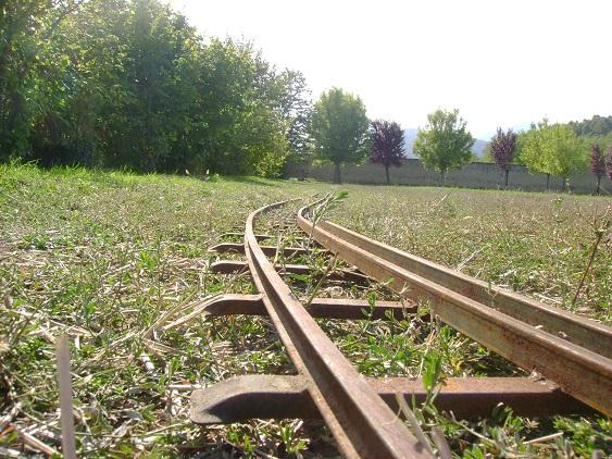 Le rotaie per il treno a vapore in miniatura